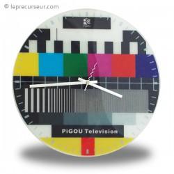 Horloge murale mire de télévision
