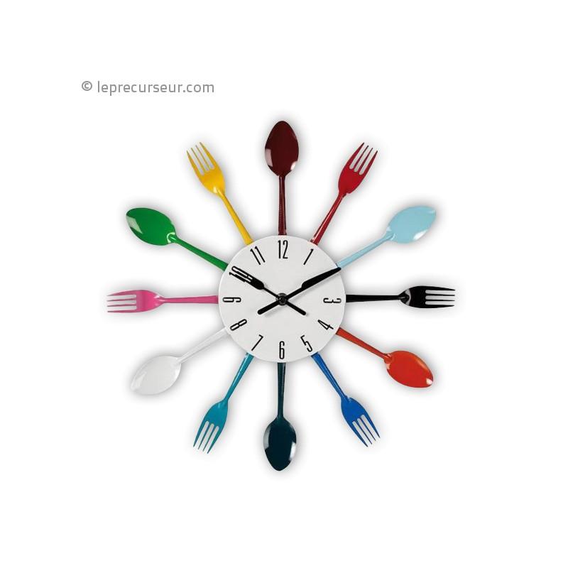 Horloge murale cuisine design yosoo diy 3d horloge murale - Horloge murale grande taille ...