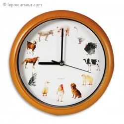 Horloge musical animaux