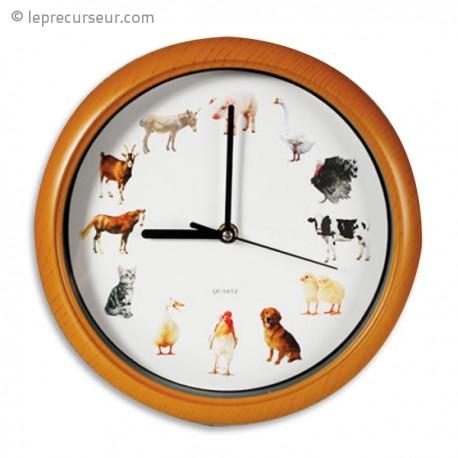 Horloge musical animaux