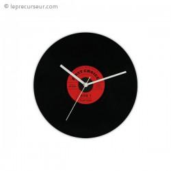 Horloge murale disque vinyle