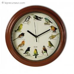 Horloge murale mélodie des oiseaux