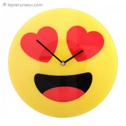 Horloge smiley amoureux