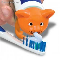Bouchon chat distributeur de dentifrice
