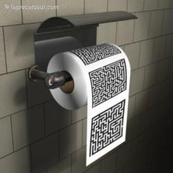 Papier WC labyrinthe