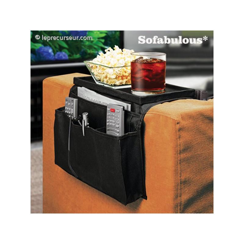 organisateur avec plateau pour canap. Black Bedroom Furniture Sets. Home Design Ideas