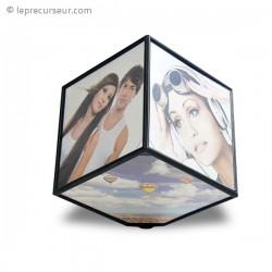 Cadre à photos cube pivotant