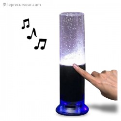 Enceinte avec une fontaine intégrée réglable par le toucher