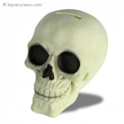 Tirelire fluorescente tête de mort