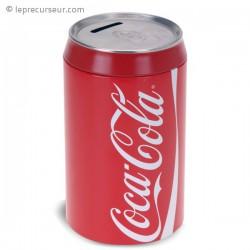 Tirelire imitation canette de coca-cola