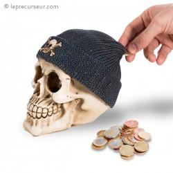 Tirelire squelette bonnet de pirate