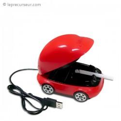 Cendrier filtre USB forme voiture