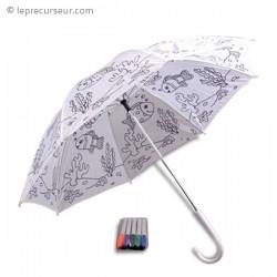 Parapluie pour enfants motifs à colorier