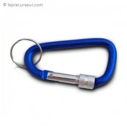 Mousqueton porte-clefs avec sécurité