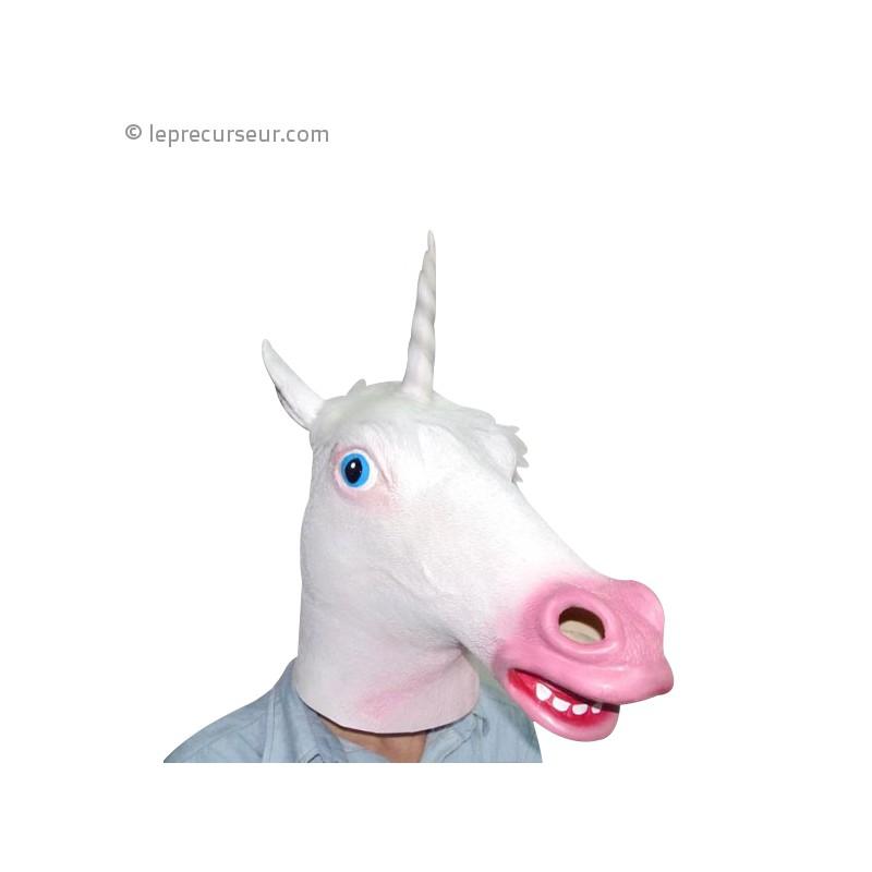 masque int u00e9gral licorne en latex