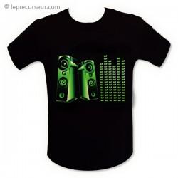 T-shirt interactif enceinte equalizer