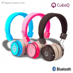 Casque audio sans fil CuboQ bluetooth