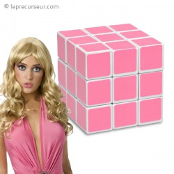 Rubik's cube pour blonde mono couleur, rose