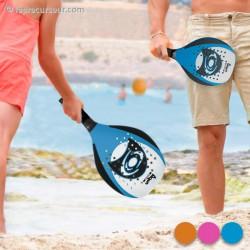 Raquettes de plage avec balle