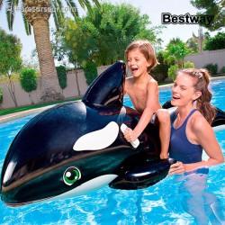 Bouée en forme de baleine orque