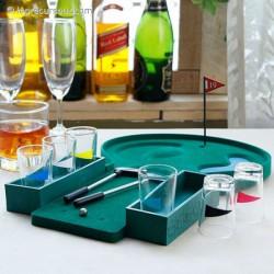 Jeu à boire golf miniature avec verres
