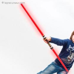 Double sabre laser avec effets sonores