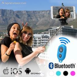 Canne selfie Bluetooth télécommandée