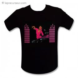 T-shirt femme Dj rose LED