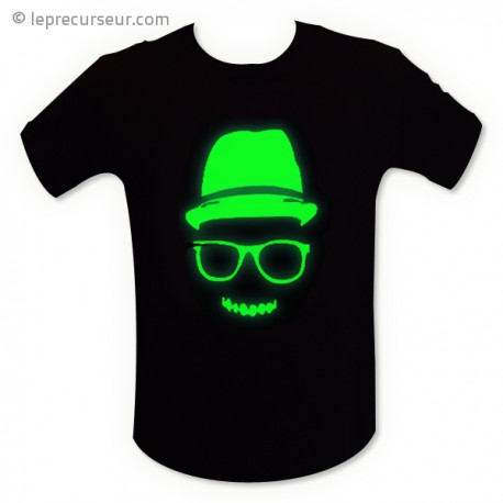 T-shirt motif fluorescent mec cool