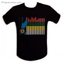 T-Shirt motif rétro-éclairé equalizer