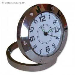 Horloge espionne ronde