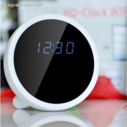 Réveil digital boule caméra télécommandée