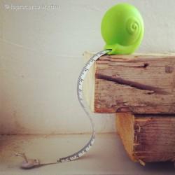 Mètre mesureur escargot