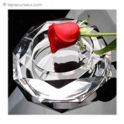 Cendrier en verre chic fond miroir