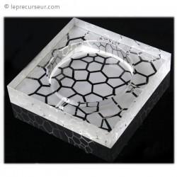 Cendrier verre motif galets