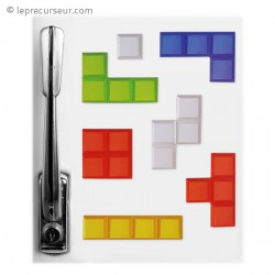 Lot de 7 magnets tetris