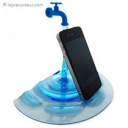 Support smarthone robinet