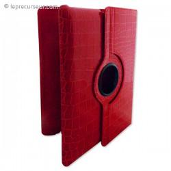 Housse iPad pivotant en cuir croco