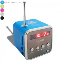 Cube mp3 et radio avec écran digital