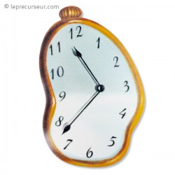 Tapis de souris horloge coulante