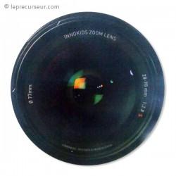 Tapis de souris objectif appareil photo