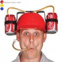 Casque distributeur boisson porte bouteille