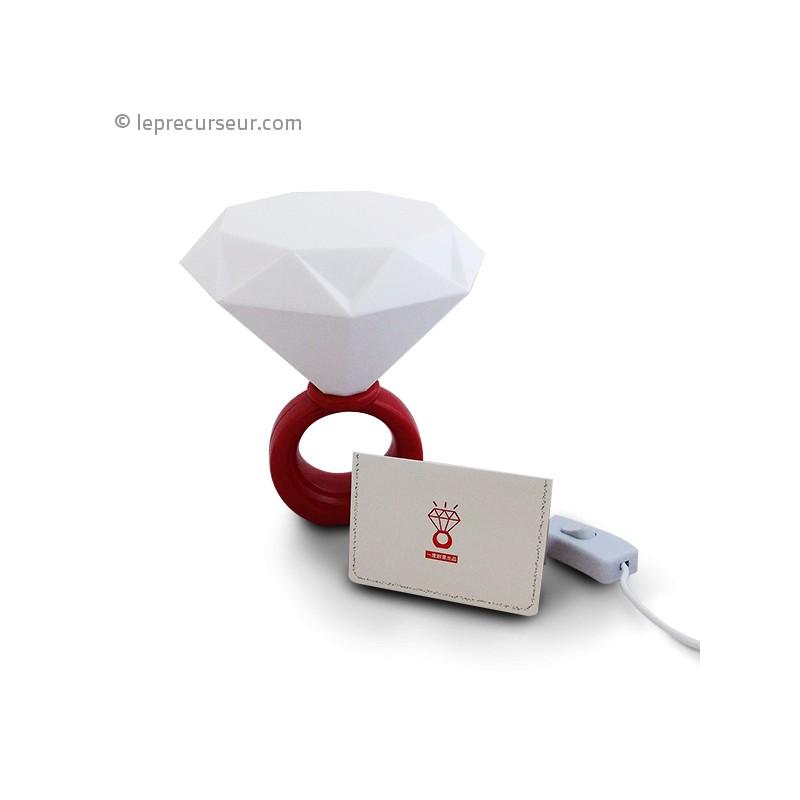 Lampe design bagueà diamant LePrecurseur com