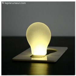 Lampe LED Carte Plate