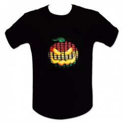 T-Shirt LED motif halloween