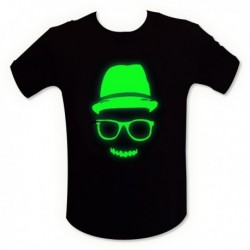 T-shirt motif fluorescent mec cool