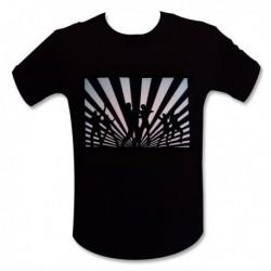 T-shirt motif LED danseurs