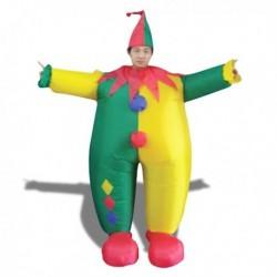 Déguisement clown chamarré gonflable