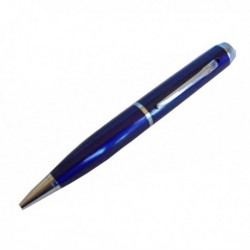 Caméra espion 4Go stylo bleu