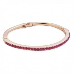 Bracelet fin doré et ligne de strass magenta
